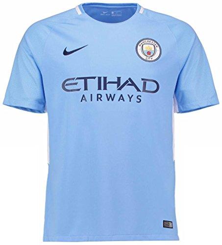 NIKE(ナイキ) マンチェスター・シティFC ホームユニフォーム 2017/18 [プレミアリーグバッジ付き] [番号/選手名なし] [サイズ:インポートS] Manchester City FC Home Shirt 2017/18 [Premier League Badge] [No Print] [Size:Import S] [並行輸入品]