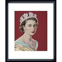 ポスター ドロシー ウィルディング Queen Elizabeth II 額装品 ウッドハイグレードフレーム(ネイビー)