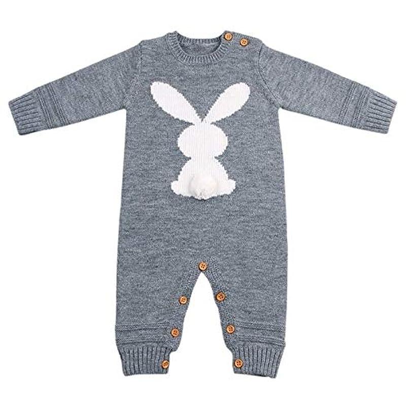 甥フック平和的ベビーロンパース冬暖かい長袖コーラルフリース新生児少年少女の服幼児スーツ動物全体のパジャマ (Color : 4 6, Kid Size : 6M)