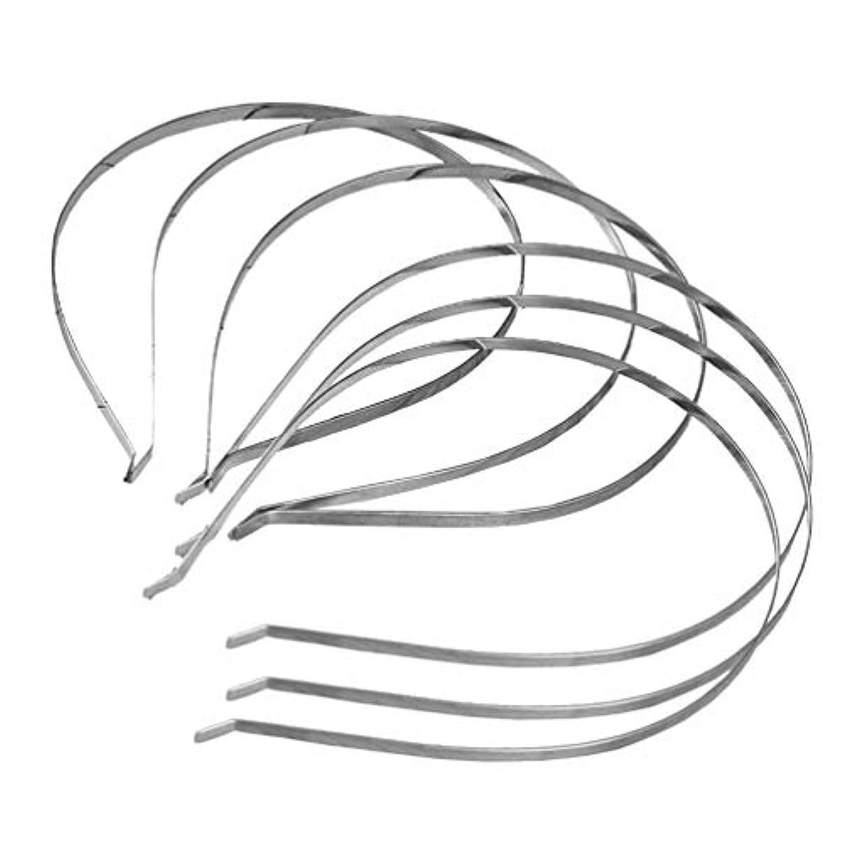 インストール推定する平凡Lurrose 6個のメタルヘアフープヘッドバンド男性女性スポーツ帽子ヘアアクセサリー