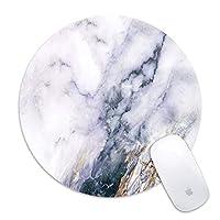 マウスパッドwithステッチエッジpremium-texturedホワイト大理石大理石ユニコーンUnicornマウスパッドノンスリップゴムベースノートパソコン用マウスパッド、コンピュータホワイト