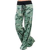 Buauty Womens Cotton Pajama Pants Floral Palazzo Bottoms Pants Soft Lounge Pants Wide Leg S-3XL