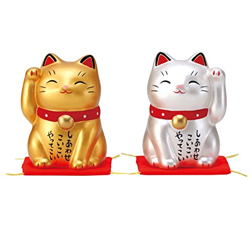 彩耀 お金 招き猫・人招き猫 7469