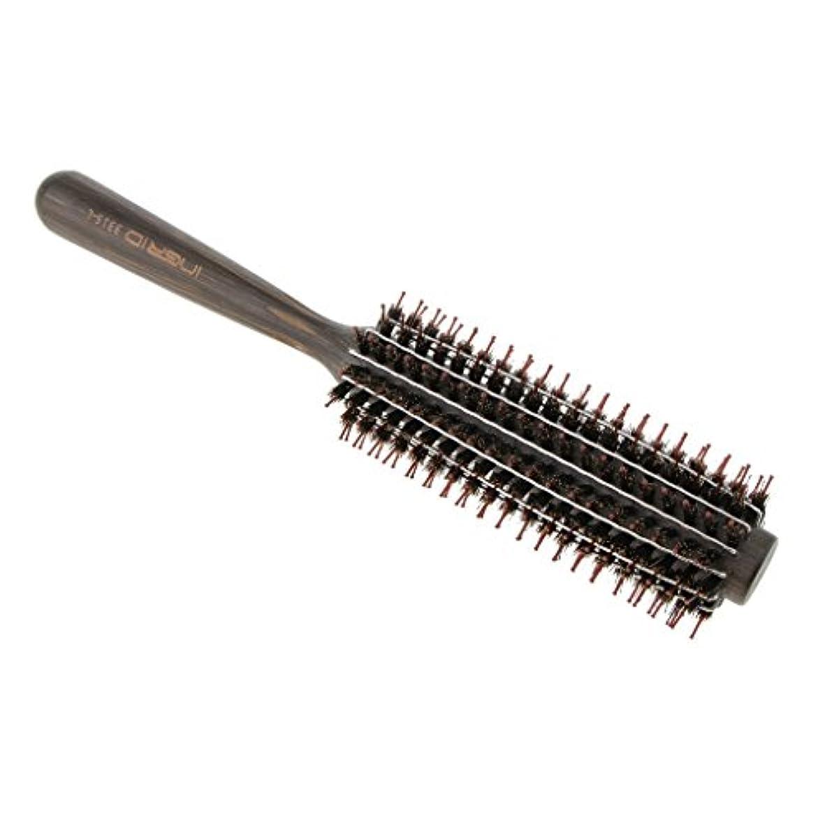 毒エイズ空洞Perfk ロールブラシ ヘアブラシ カール 巻き髪  ヘアコーム 3サイズ選べる  - L