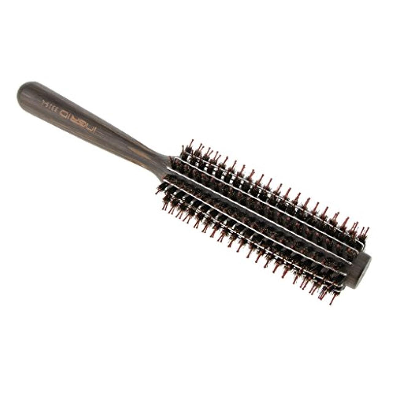 ロールブラシ ヘアブラシ カール 巻き髪 ヘアコーム 3サイズ選べる - L
