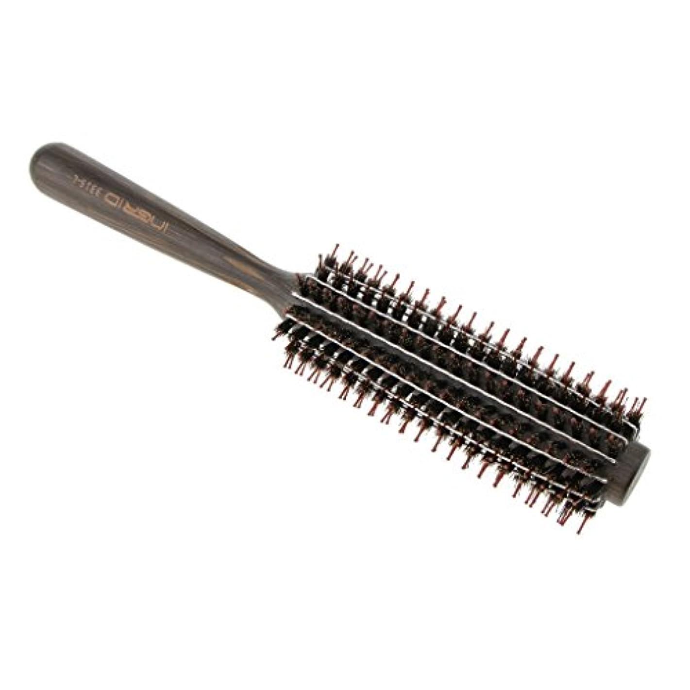一節笑いスクレーパーロールブラシ ヘアブラシ カール 巻き髪 ヘアコーム 3サイズ選べる - L