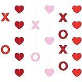 KatchOn XOXO ハート型吊り下げガーランド - DIY不要 27個パック | バレンタインデー デコレーション 自宅 アウトドア 木 オフィス 窓 教室 | フェルトハートガーランド バナー 背景