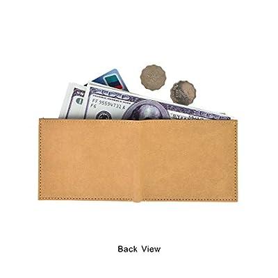 Minimalist Slim Travel Bifold Kraft Paper Wallet with Coin Pocket for Men Women