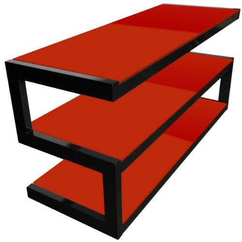 NorStone オーディオラック ESSE B/RED Glossy black/Red ノールストーン