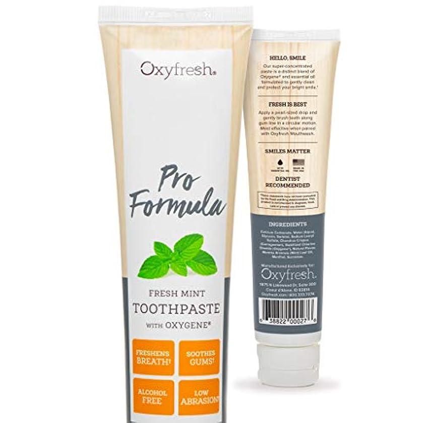 常習者ジュラシックパーク読むOxyfresh Original Mint Toothpaste: For Long-Lasting Fresh Breath & Healthy Gums. Dentist recommended. No Artificial...