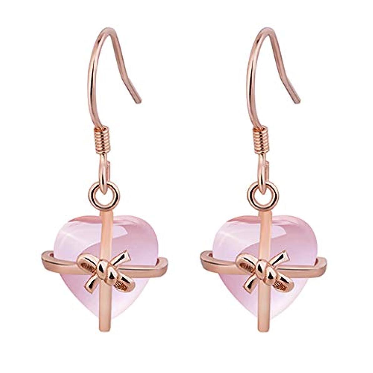 寝室を掃除するささいなマットレスNicircle 女性ナチュラルハートピンクローズ925スタンダードシルバージュエリーイヤリング ピンクのバラ Women Natural Heart Pink Rose 925 Standard Silver Jewelry...