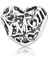 PANDORA Charms Sterling Silver Original Hollow Women's Love Charm
