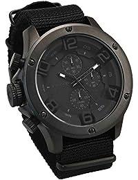 [フランテンプス]Franc Temps 腕時計 ガヴァルニ クロノグラフ ナイロンベルト (フルブラック) メンズ FTGC-N-FBK