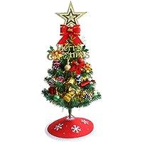 Sutekus 卓上 クリスマス ツリー 電飾つき セット かわいい ミニ サイズ 60cm オーナメント 玄関に 飾り ウェルカムツリーにも インテリア 用品 プレゼントに最適