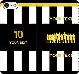 iPhone/Xperia/Galaxy/他機種選択可:部活/好きな番号/文字をカスタム/サッカー手帳ケース(デザイン2:IT_03) 13 全機種対応用【Sサイズ】