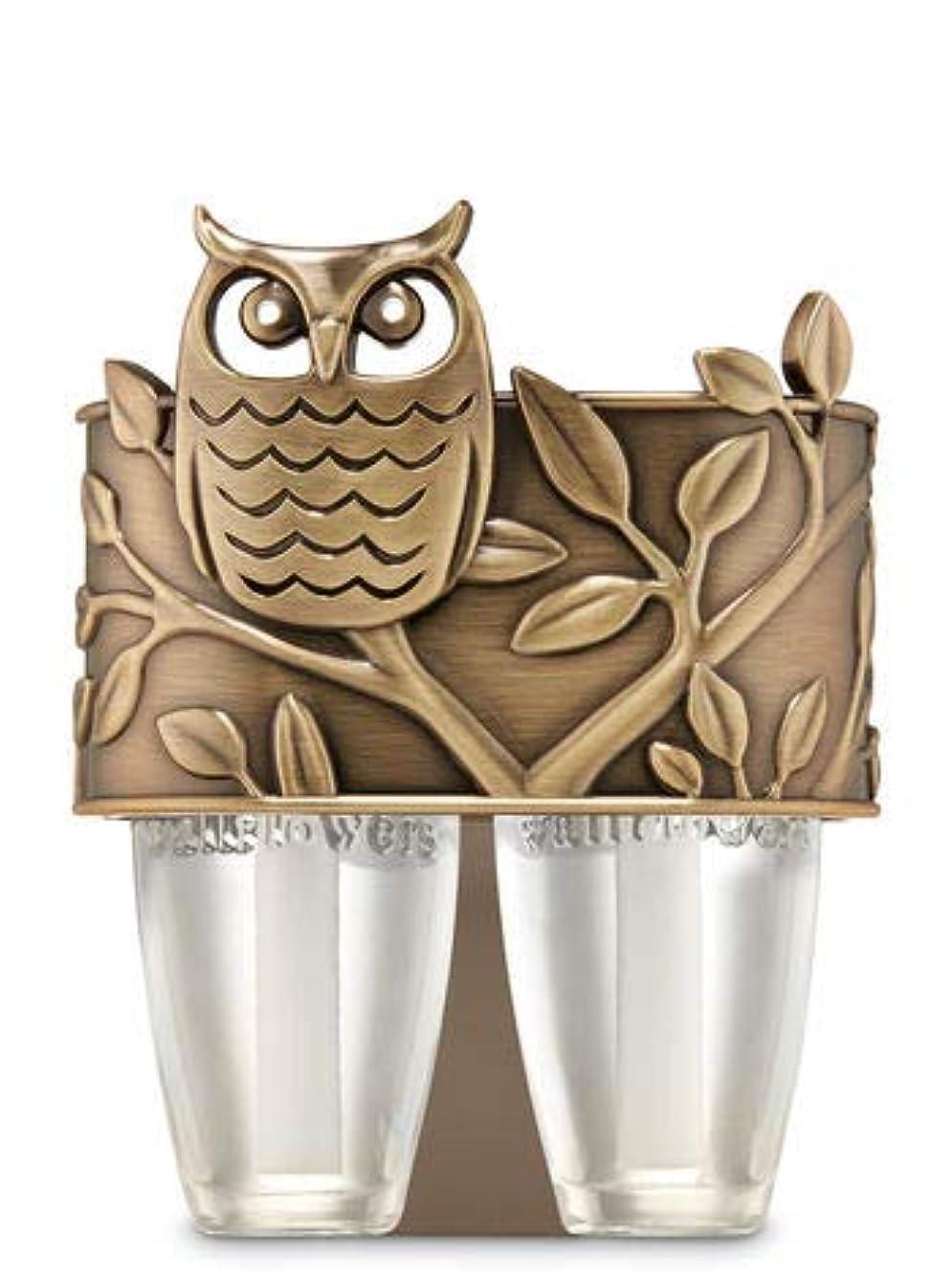 既婚引用行列【Bath&Body Works/バス&ボディワークス】 ルームフレグランス プラグインスターター デュオプラグ (本体のみ) オウル フクロウ Scent Switching Wallflowers Duo Plug...