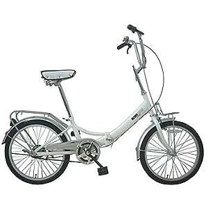 ミチコロンドン 20インチ折りたたみ自転車/MLK-206 ホワイト MLK-206