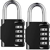 HOMIEST 2 Pack Combination Lock 4 Digit Outdoor Waterproof Padlock for School Gym Locker, Sports Locker, Fence, Toolbox, Gate