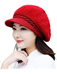 Women Hat Winter Beanies Knitted Hats Rabbit Hair Cap Knitted Hat Female Fashion Skullies