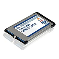 CSL - ノートPC用PCMCIA USB 3.0 Super Speed Expressカード(34mm / 2ポート/ Windows 10互換)