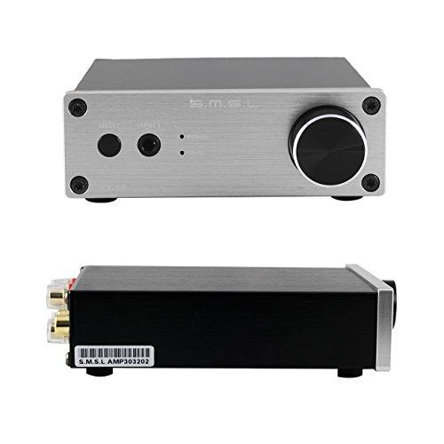 S.M.S.L SA60 高品質HIFI デジタルアンプ オーディオアンプ TPA3116 MCU制御 2*60Wステレオ回路設計 ACアダプターセット 拭き布付き