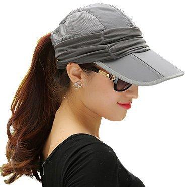 EIGER HORN(アイガーホーン) 日除け 帽子 レディース 日焼け防止 紫外線対策 ゴルフ アウトドア (グレー)