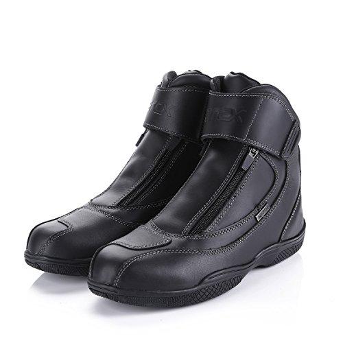 しゅーず バイクブーツ オフロード レーシングシューズ プロテクター カジュアル靴 雨 防水 滑り止め ダブルファスナー お洒落 ブラック マン ライディング