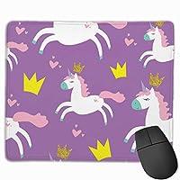 マウスパッド 紫 ユニコーン グレー ゲーミング オフィス最適 おしゃれ 疲労低減 滑り止めゴム底 耐久性が良い 防水 かわいい PC MacBook Pro/DELL/HP/SAMSUNGなどに 光学式対応 高級感プレゼント VAMIX