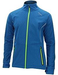 (Large, Cobalt Blue Weave/Ombre Blue) - 2XU Men's 23.5 N Jacket
