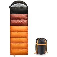 寝袋暖かい充填封筒軽量で通気性の睡眠袋(圧縮あり)4シーズンのキャリーバッグキャンプ、旅行、ハイキング