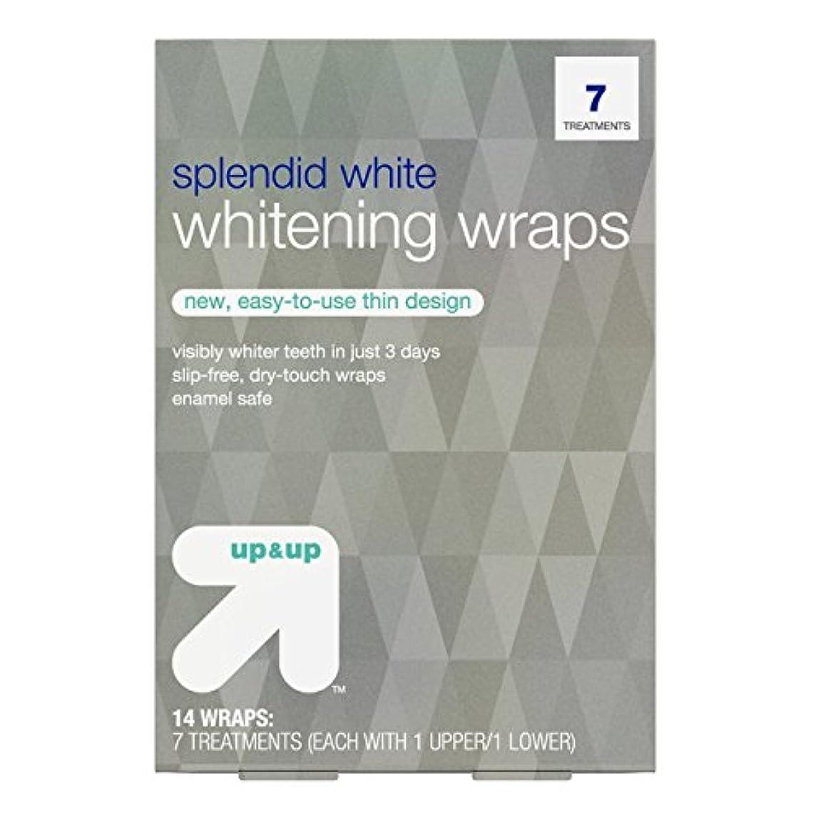 不均一帽子緩やかなスプレンディッドホワイトニングラップス7日分 アップ&アップ Splendid White Teeth Whitening Wraps 7-Day Treatment - up & up