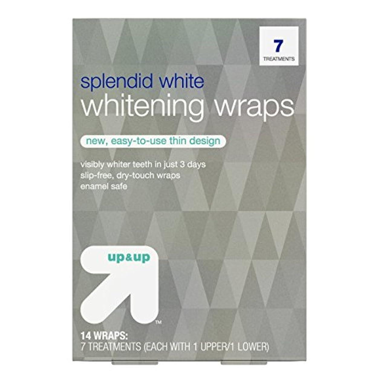マオリ大惨事褐色スプレンディッドホワイトニングラップス7日分 アップ&アップ Splendid White Teeth Whitening Wraps 7-Day Treatment - up & up