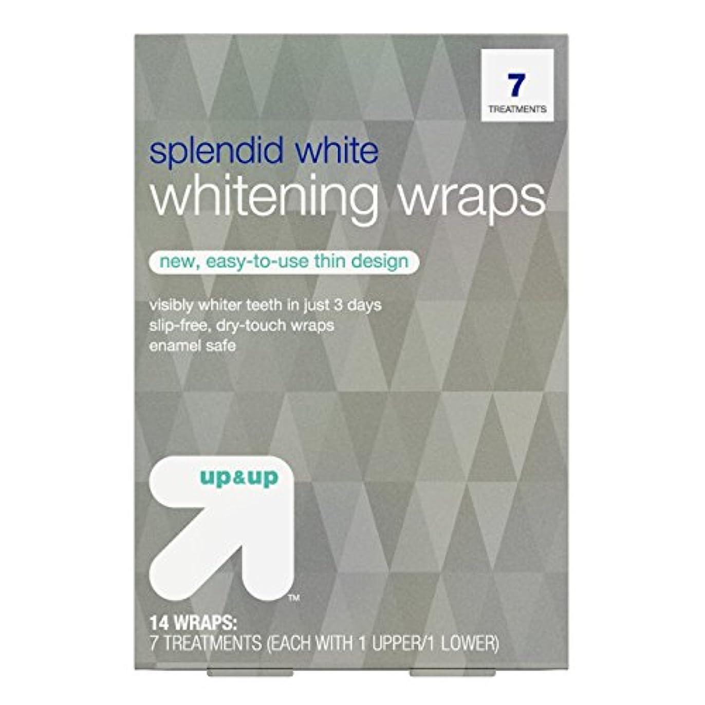 競うまたはアンテナスプレンディッドホワイトニングラップス7日分 アップ&アップ Splendid White Teeth Whitening Wraps 7-Day Treatment - up & up