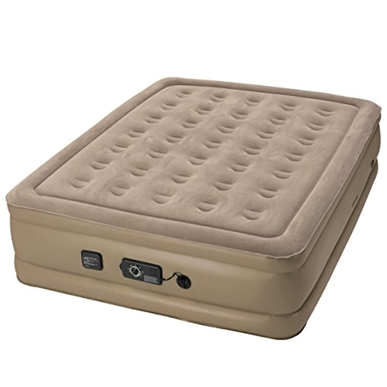 効能ある資金芽Insta-Bed Raised 18 Inch Queen Air Bed w/NeverFlat pump [並行輸入品]