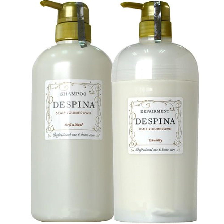 コレクションパス消毒剤ナカノ デスピナ  スキャルプ ボリュームダウン シャンプー800ml&リペアメント670セット NAKANO DESPINA SCALP