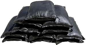 PUT BLOCK【プットブロック】緊急災害対策用品 土のう専門メーカーの土のう砂入り(10kg) 2個セット (ブラック)