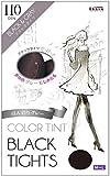 COLOR TINT カラーティント ブラックタイツ ブラック&グレー 110den