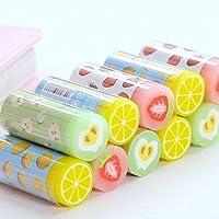 grekywin Kawaii Cute Fruit Rubbers鉛筆消しゴム学生キッズ用、6個