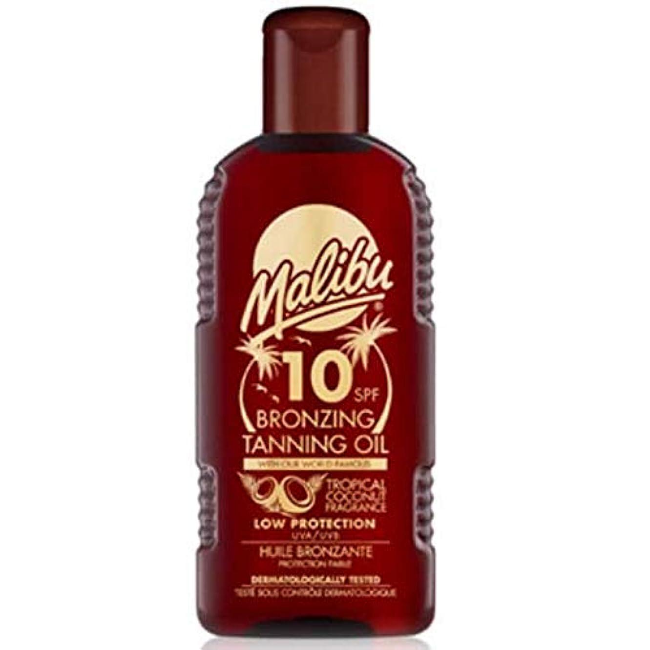 リーフレット出血ボクシング[Malibu ] マリブブロンズ日焼けオイルSpf 10 - Malibu Bronzing Tanning Oil SPF 10 [並行輸入品]