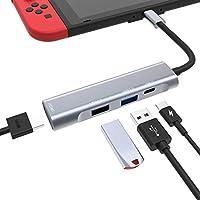 iDudu 携帯型 Nintendo Switch ドックセット HDMIアダプター TVに出力可能 4K usb type c ハブ 超ミニ 超安定