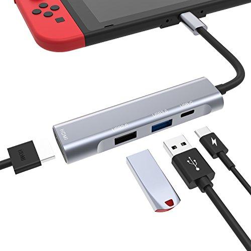 Nintendo Switch ドックセット 携帯型 HDMIアダプター TVに出力可能 4K 4 In 1