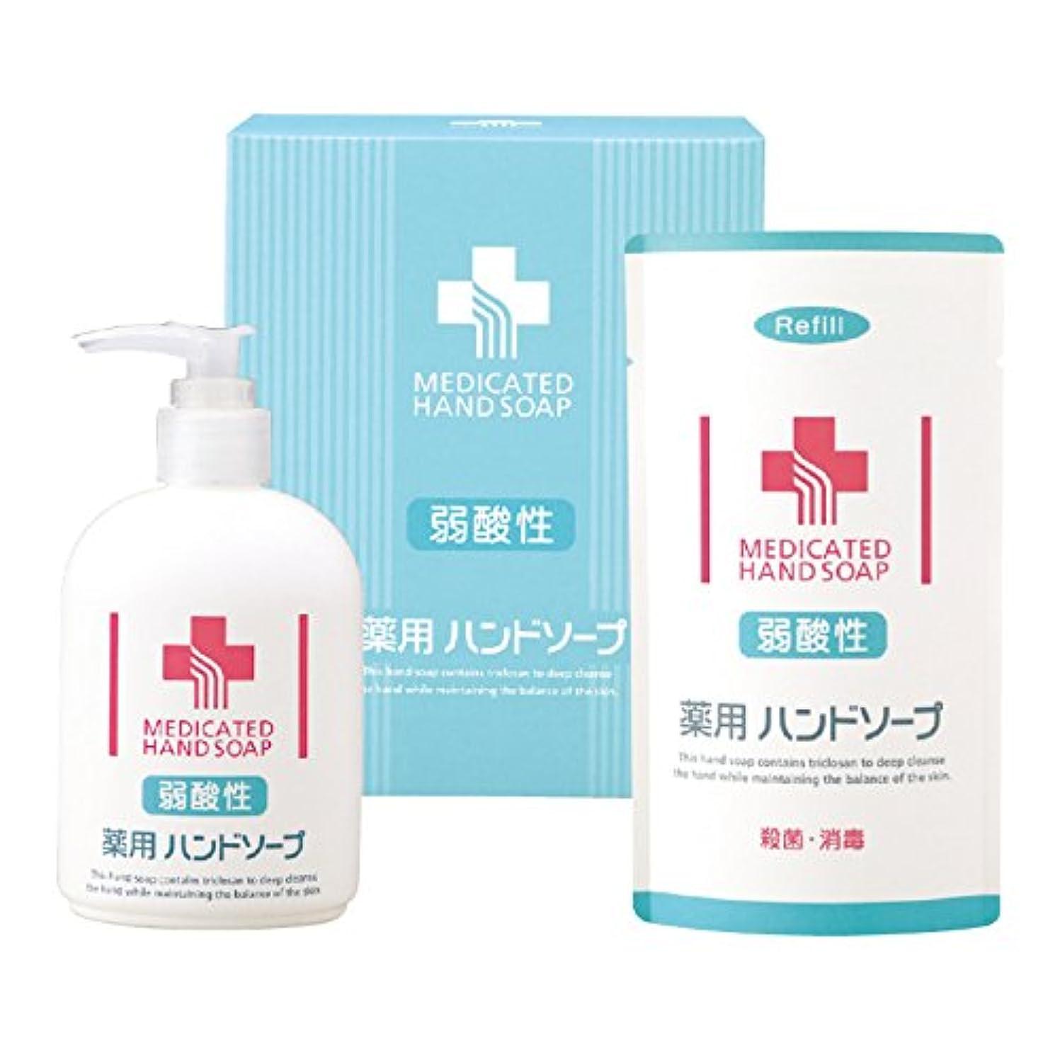 エンコミウムカラスレイ熊野油脂 弱酸性 薬用 ハンドソープセット No.763 2点セット