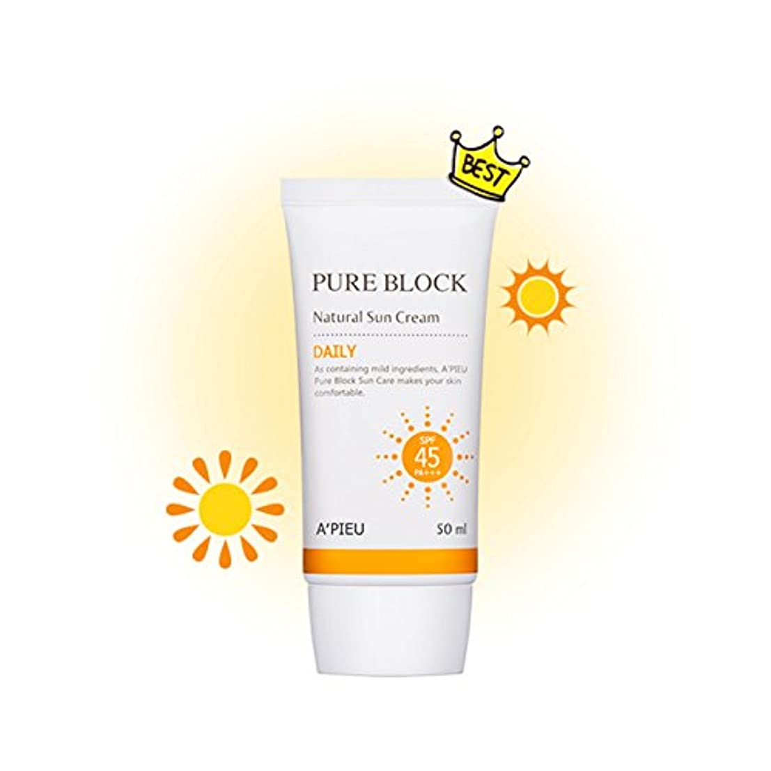心理学斧家具[オピュ] A'PIEU ピュアブロックナチュラルデイリー日焼け止め Pure Block Natural Daily Sun Cream SPF 45 PA+++ [並行輸入品]