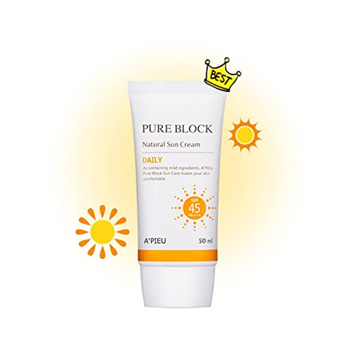 適切な上がる飛行場[オピュ] A'PIEU ピュアブロックナチュラルデイリー日焼け止め Pure Block Natural Daily Sun Cream SPF 45 PA+++ [並行輸入品]