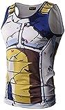 Pizoff(ピゾフ) メンズ タンクトップ 3Dプリント おもしろ 仮装 吸汗速乾 コンプレッションウェア Y1783-01-L