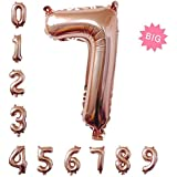 特大数字パーティー誕生日飾りアルミシャンパンカラーバルーン100cm(0-9) (7)