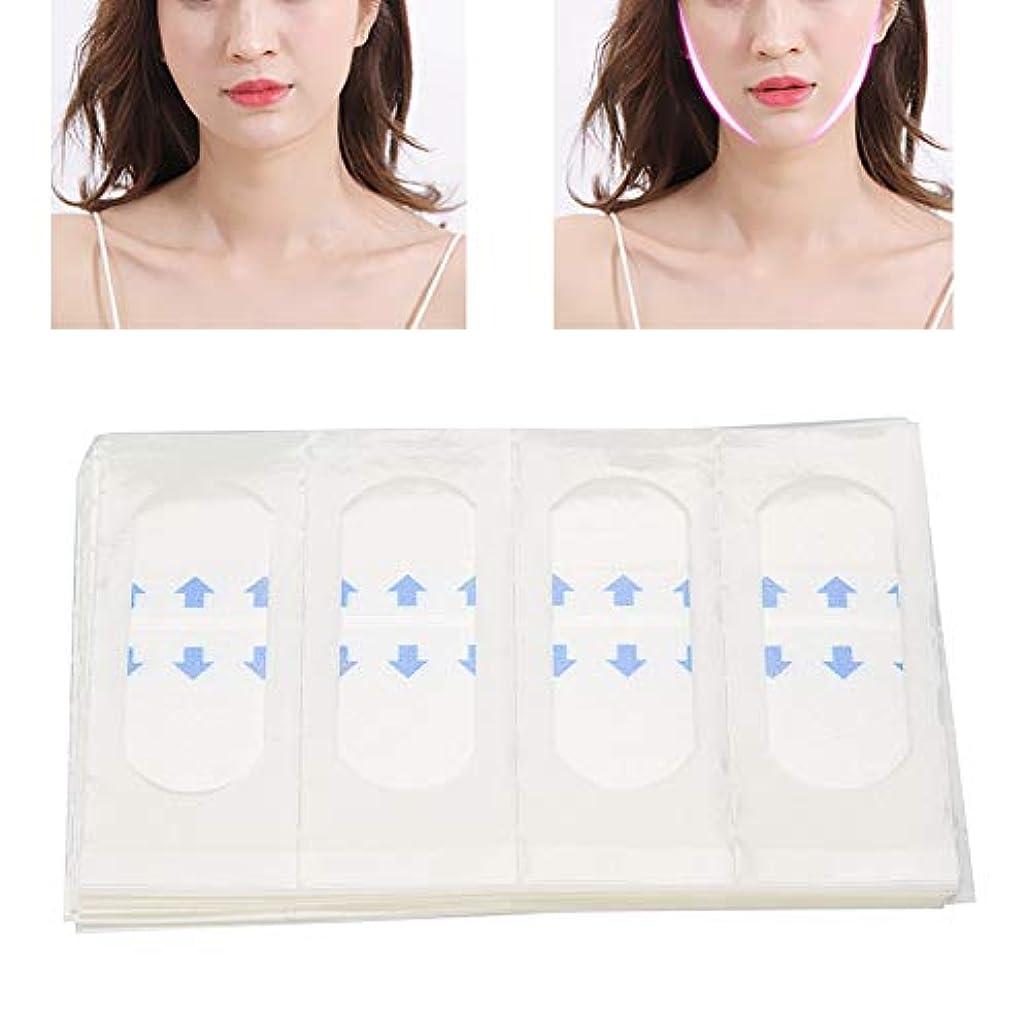 魅惑的な掻く引数40枚 顔のステッカー Vライン フェイス美容ツール 薄型テープ