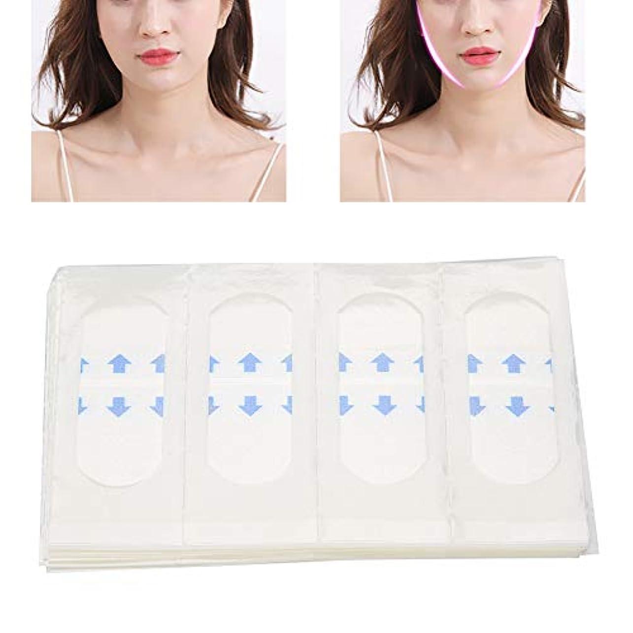 楽しい慣れるミュウミュウ40枚 顔のステッカー Vライン フェイス美容ツール 薄型テープ