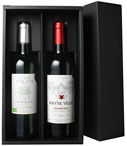 お中元 ワイン 送料無料ワインセット ギフトBOX付き ボルドー産赤白ワイン2本 3000円 ギフトワインセット 第4弾