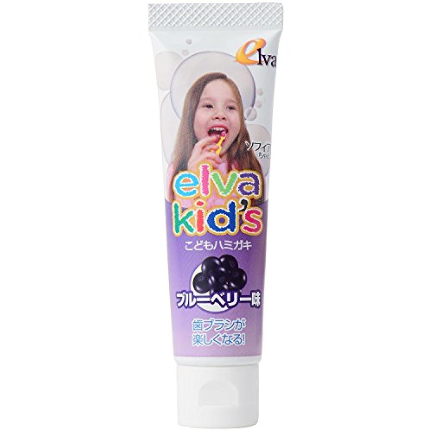 戻す韓国語ぬるいエルバキッズ お母さんも安心のこだわりの歯磨き粉 フッ素なし ブルーベリー味 2個セット